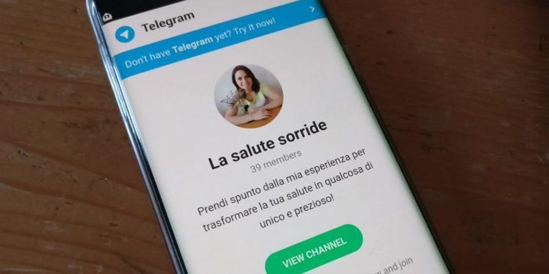 Canale Telegram La salute sorride